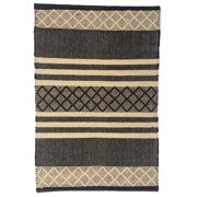 Artim Home Textile Atlas Handwoven Flatweave Black/Tan Area Rug