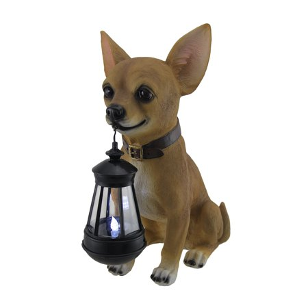 Little Light Keeper Chihuahua Statue and LED -