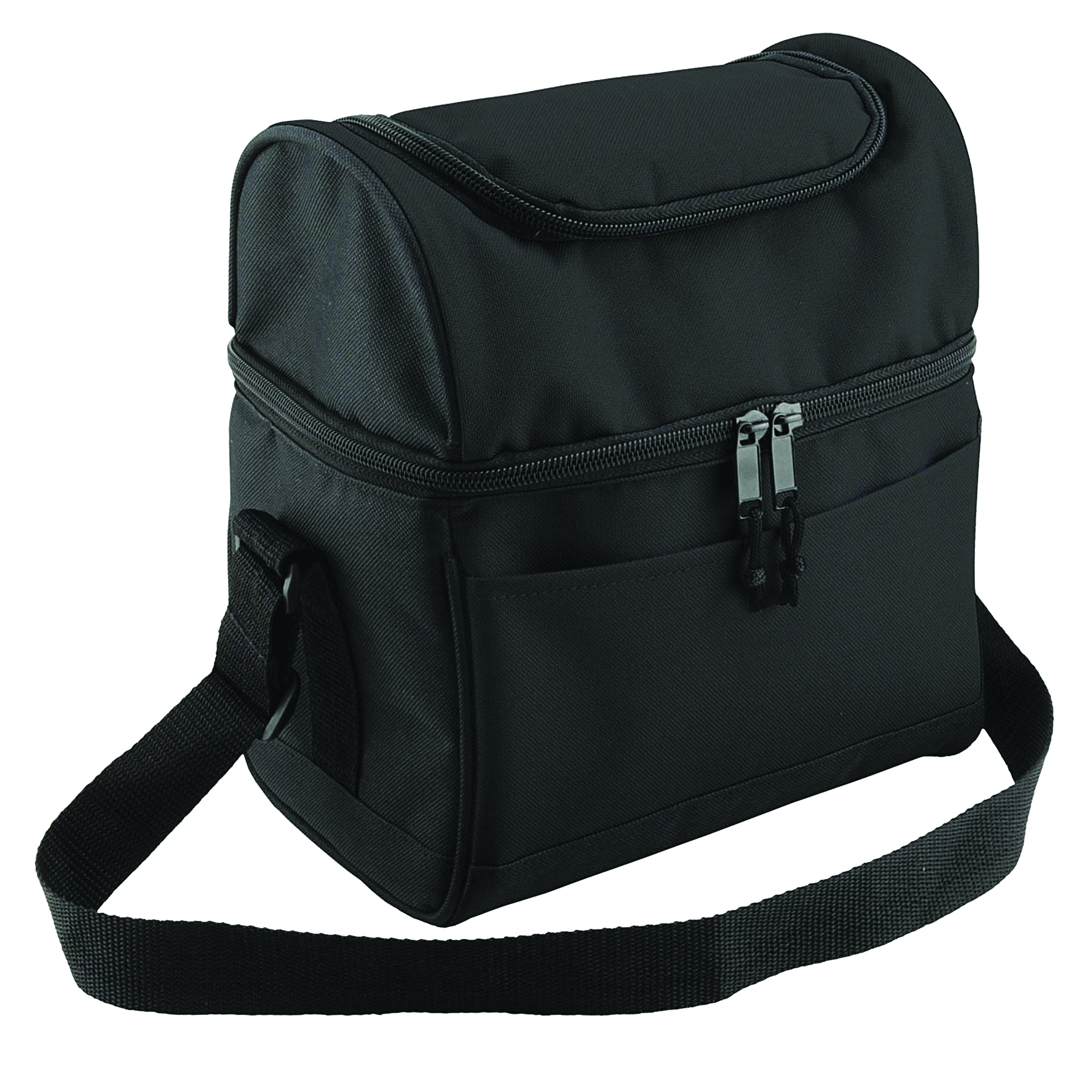 KC Caps Deluxe Insulated Lunch Cooler Bag with Dual Compartment, Zipper Closure Adjustable Strap