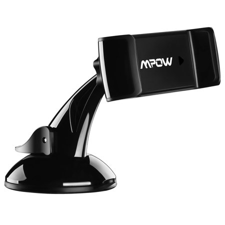 Mpow 2-in-1 Phone Holder for Car, Car Mount, Windshield/ Dashboard/ Air Vent, Car Cradle and 360 Degrees Rotation for iPhone 7/7 Plus/6/6s Plus/5S, LG, Sony, HTC, Huawei and Other Mobile Phone