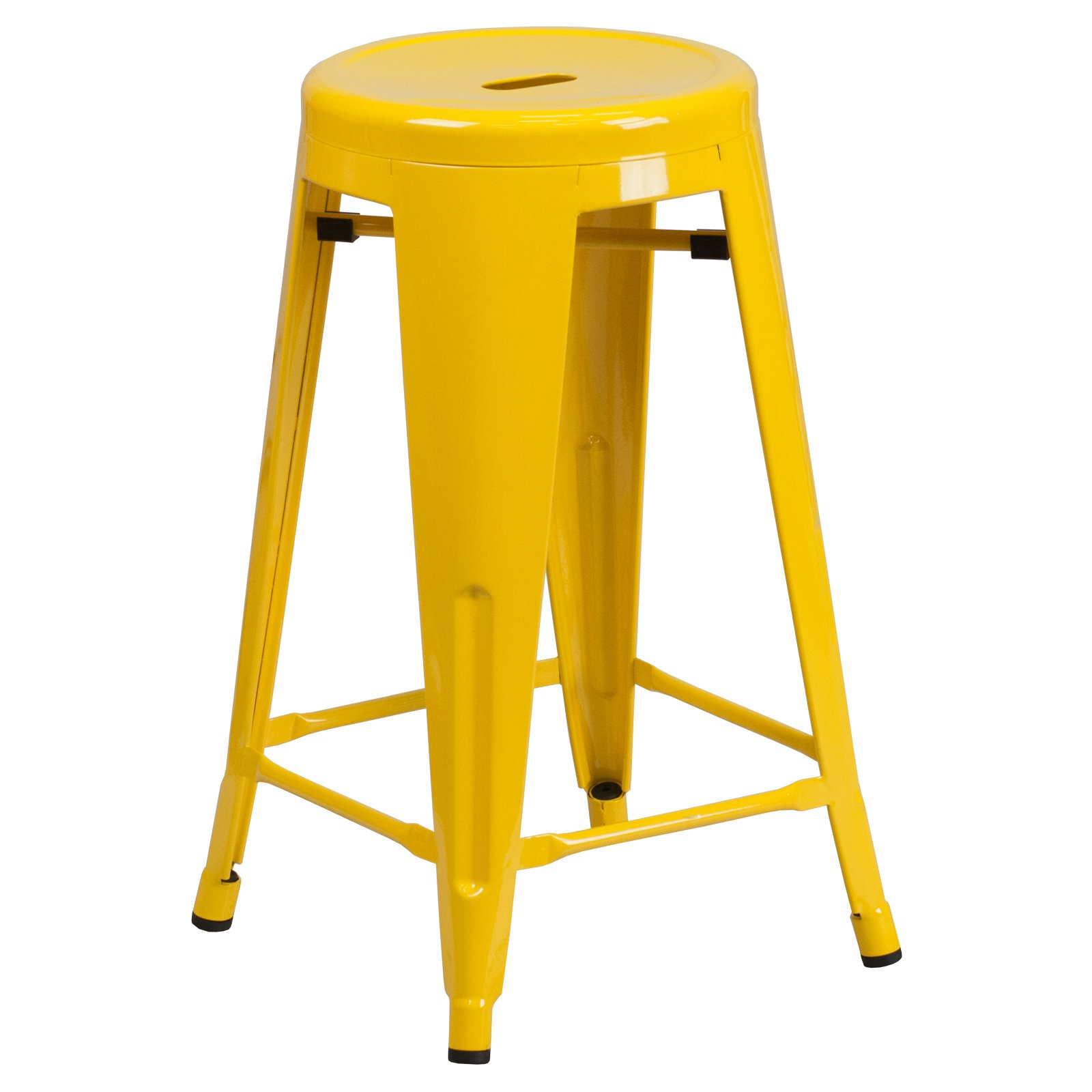 Flash Furniture Carlisle 24 In Metal Counter Stool