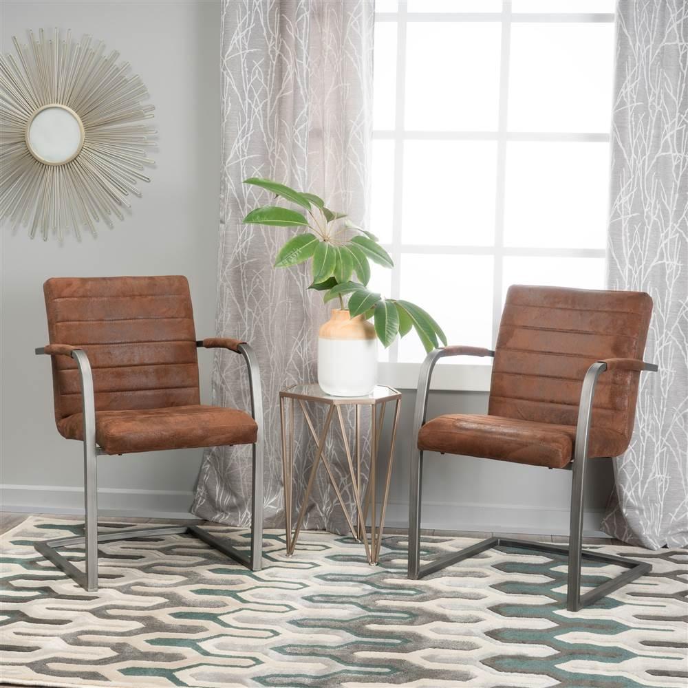 Alta Microfiber Arm Chair - Set of 2
