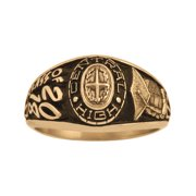 Personalized Women's Class Ring available in Valadium Stainless Steel