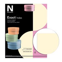 Exact Index Cardstock, 8-1/2 x 11 Inches, 110 lb, Ivory, 250 Sheets (Ivory Cardstock)