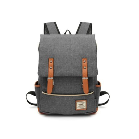 Generic - 7 Colors Unisex Fashion Vintage Canvas Backpacks Laptop Bag  Students School Backpack Travel Bags Satchels Travelling Camping For Men  Women Boys ... d2eccecfc8cba
