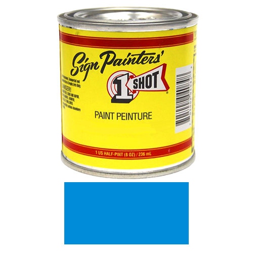 1/2 Pint 1 Shot PROCESS BLUE Paint Lettering Enamel Pinstriping & Graphic Art