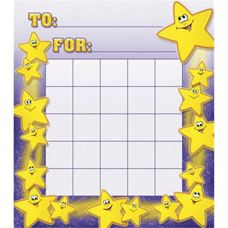 NORTH STAR TEACHER RESOURCE NST2207 SMILEY STARS MOTIVATIONAL CHARTS - image 1 of 1