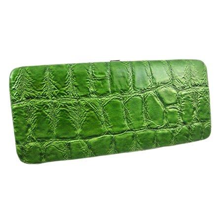 Croc Clutch (Mock Croc Wristlet Checkbook Wallet Clutch)