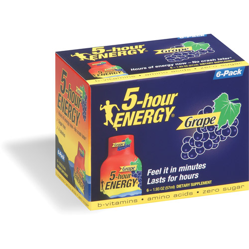 5-Hour Energy Grape Dietary Supplement, 6pk