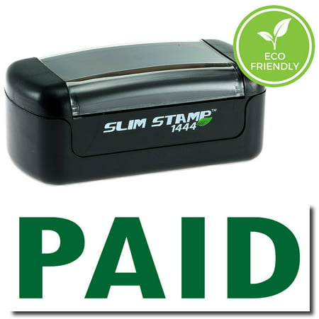 Slim Pre-Inked Paid Stamp with Black Ink