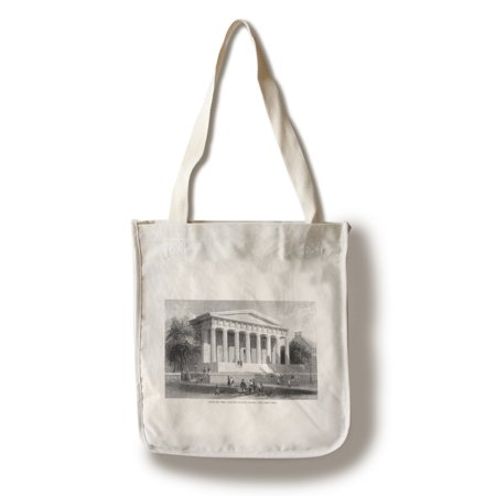 Philadelphia  Pennsylvania   Exterior View Of The United States Bank  100  Cotton Tote Bag   Reusable