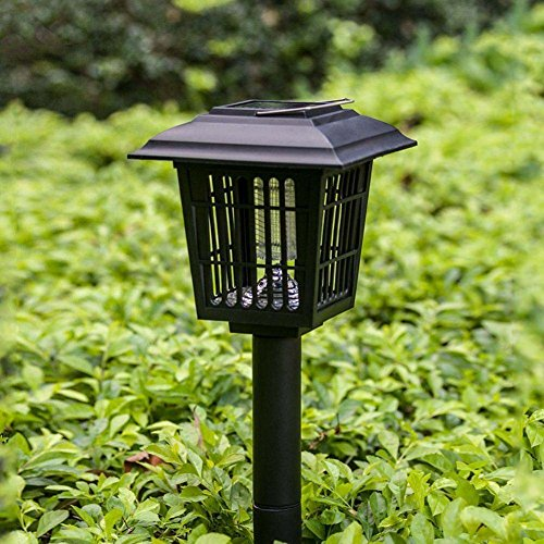 Solar Powered Mosquito Killer Fly Bug Insect Zapper Outdoor Garden Lamp Light