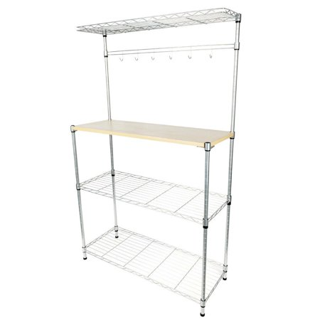 Zimtown 4-Tier Kitchen Bakers Rack Home Dining Microwave Stand Storage Shelf (Carlsbad Bakers)