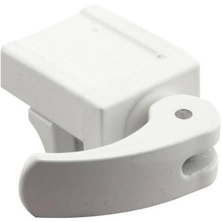 "Prime Line U9809 1-13/16"" White Diecast Vinyl Window Lock, 2 Count"