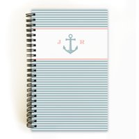 Anchor Monogram - Personalized 5 x 8 Notebook