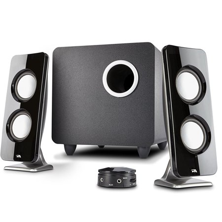 Cyber Acoustics 2.1 Speaker Sound System with Subwoofer and Control Pod - Great for Music, Movies, Multimedia PCs, Macs, Laptops and Gaming Systems (Best 2.1 Speakers For Music)