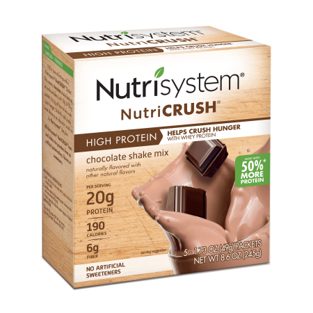 - Nutrisystem NutriCrush Chocolate Shake Powder, 1.73 Oz, 5CT
