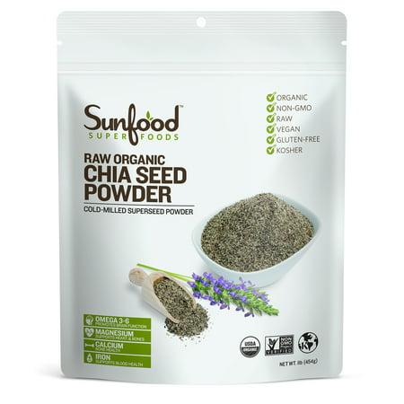 Sunfood Superfoods Organic Chia Seed Powder, 1.0 Lb ()