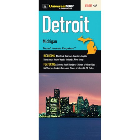 Universal Map Detroit Wayne County Fold Map