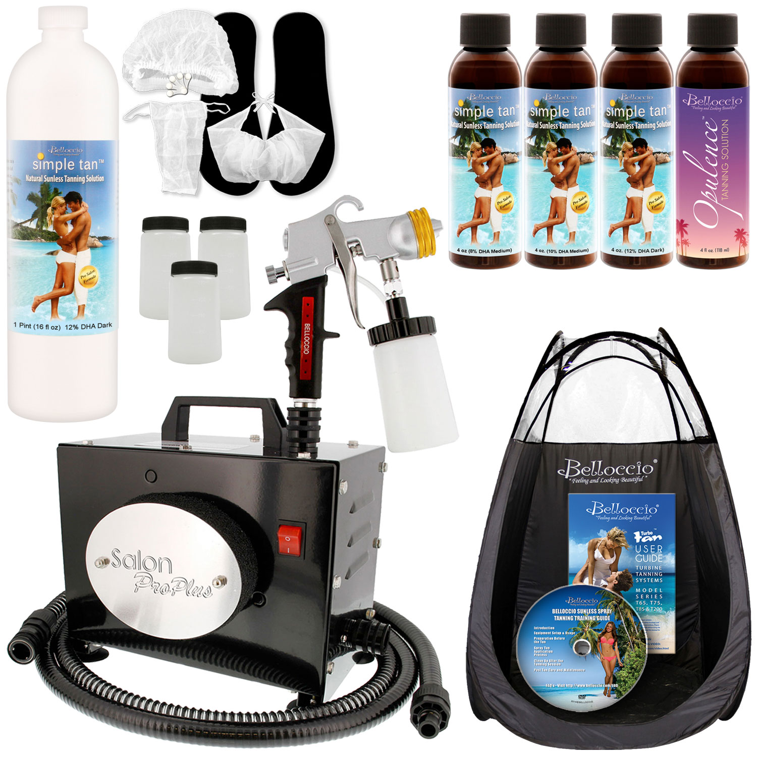 SALON PRO PLUS Sunless Airbrush SPRAY TANNING SYSTEM Dk S...