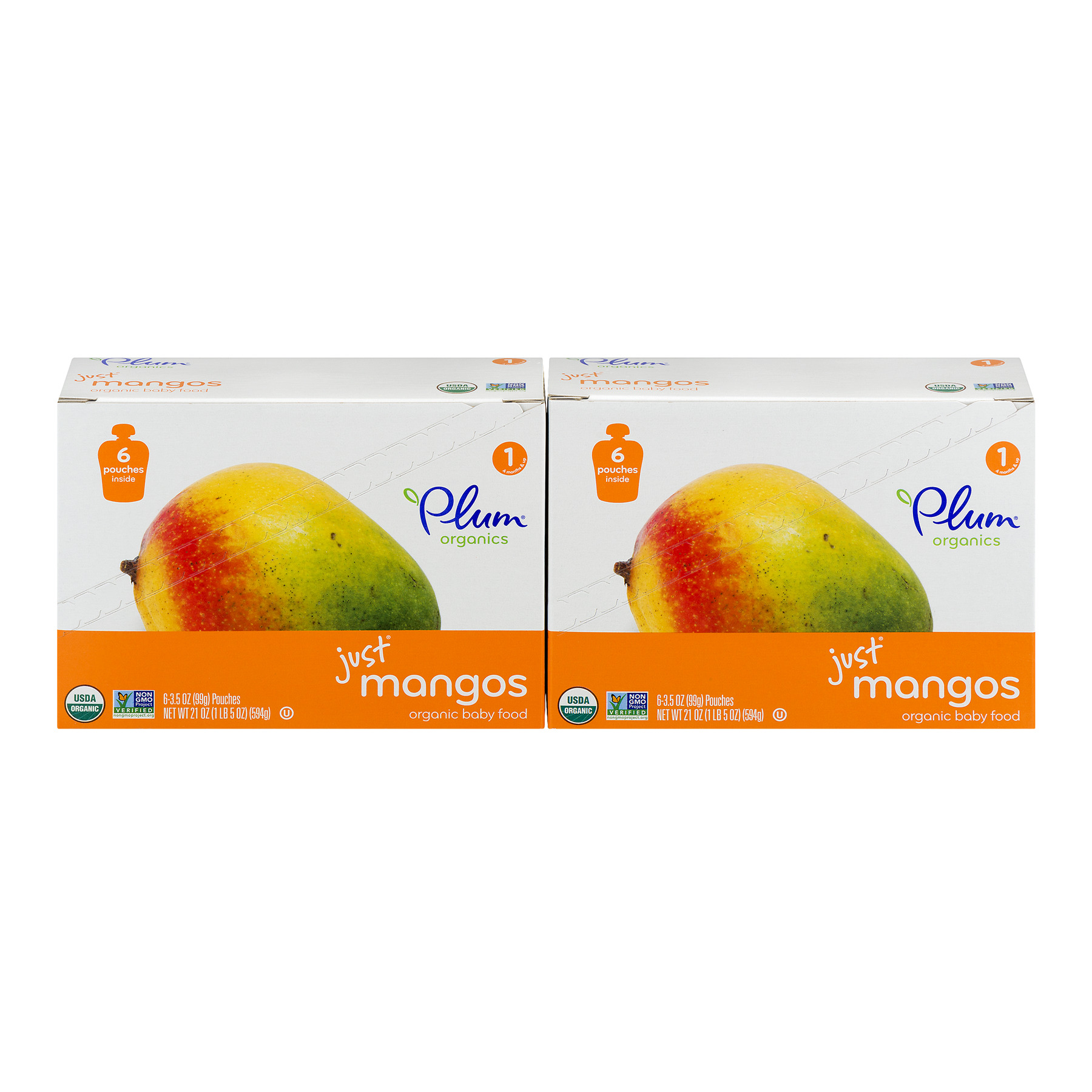 Plum Organics Just Mangos 4m+ - 12 CT12.0 CT