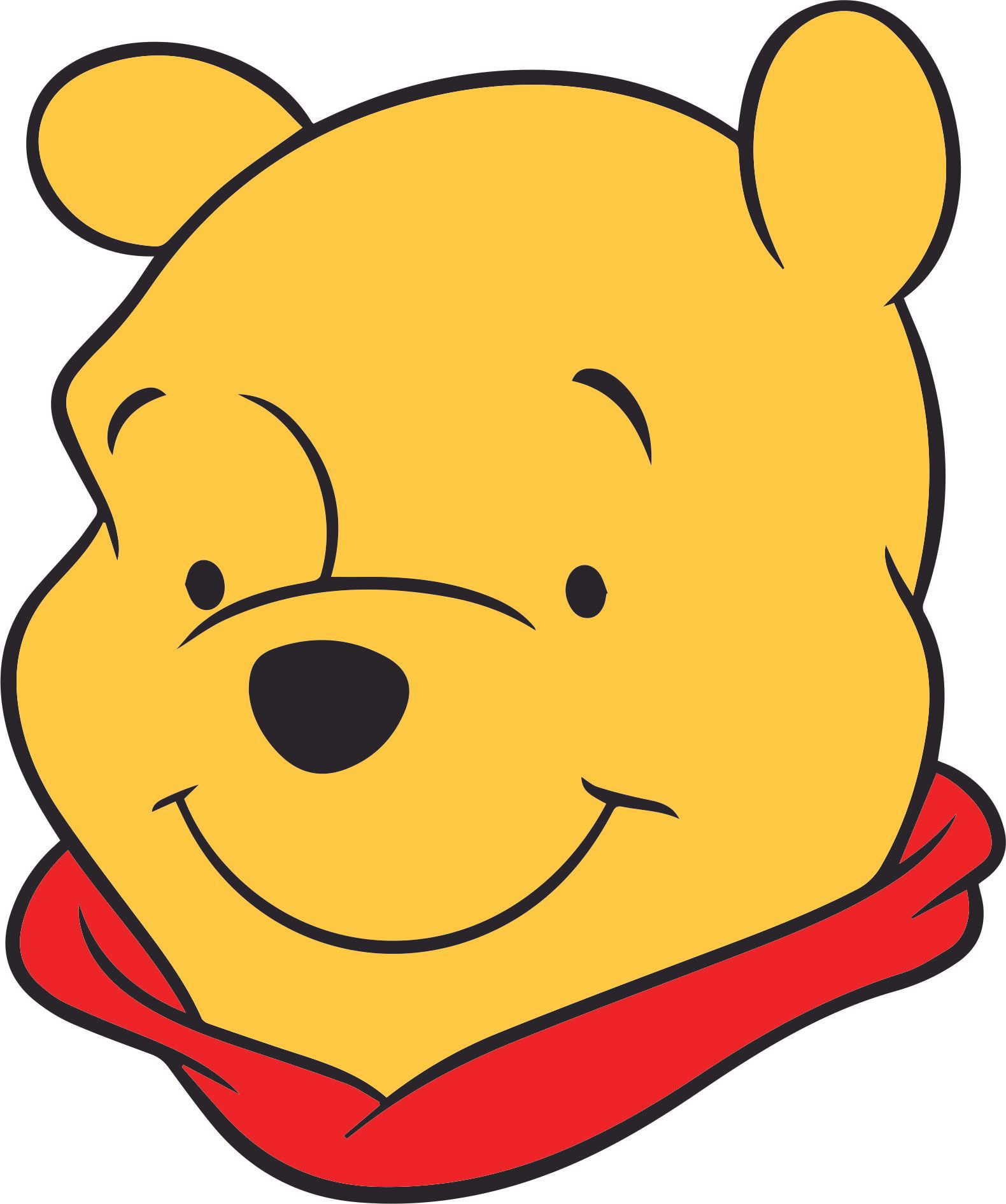Winnie The Pooh Happy Smiling Face Customized Wall Decal ...