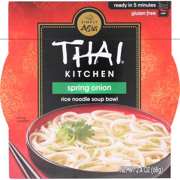 Thai Kitchen Rice Noodle Soup Bowl Spring Onion 2 4 Oz Walmart Com Walmart Com