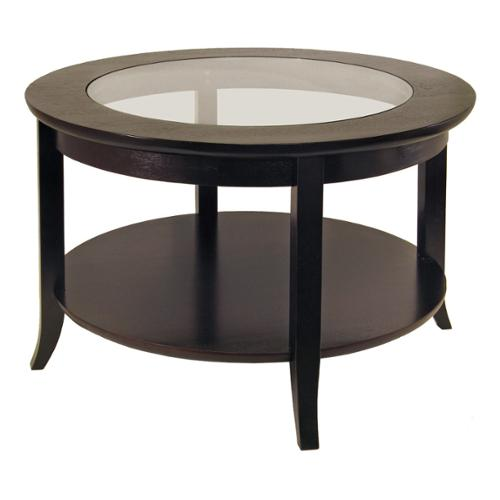 Winsome  Genoa Wood/Glass Inset Coffee Table With Flared ...