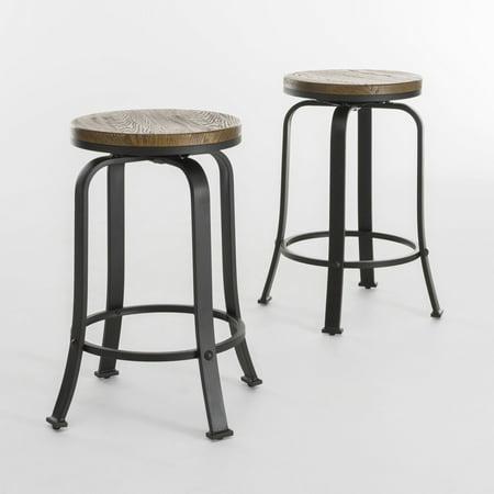 Strange Starla Natural Wood Rotating Counter Stool Set Of 2 Uwap Interior Chair Design Uwaporg