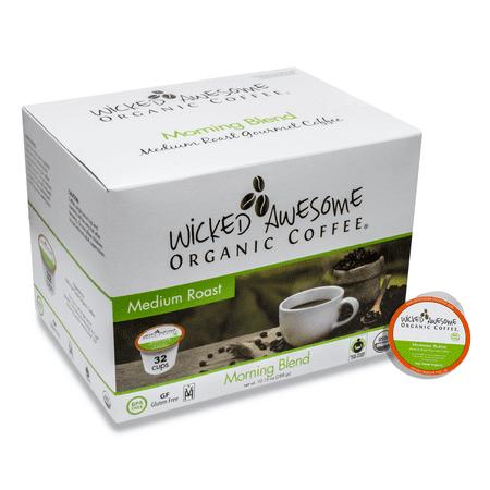 Wicked Awesome Fair Trade Organic Morning Blend Coffee, Single Serve Cups, 32 ct - Fair Trade Organic Chocolate Halloween