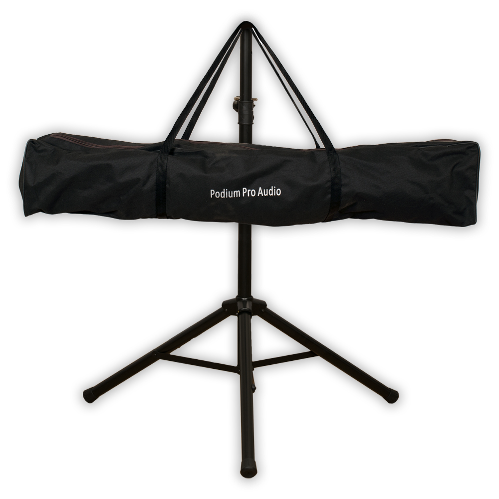 Podium Pro SS1 PA DJ Karaoke Band Steel Heavy Duty Speaker Stand Telescoping with Bag SS1B
