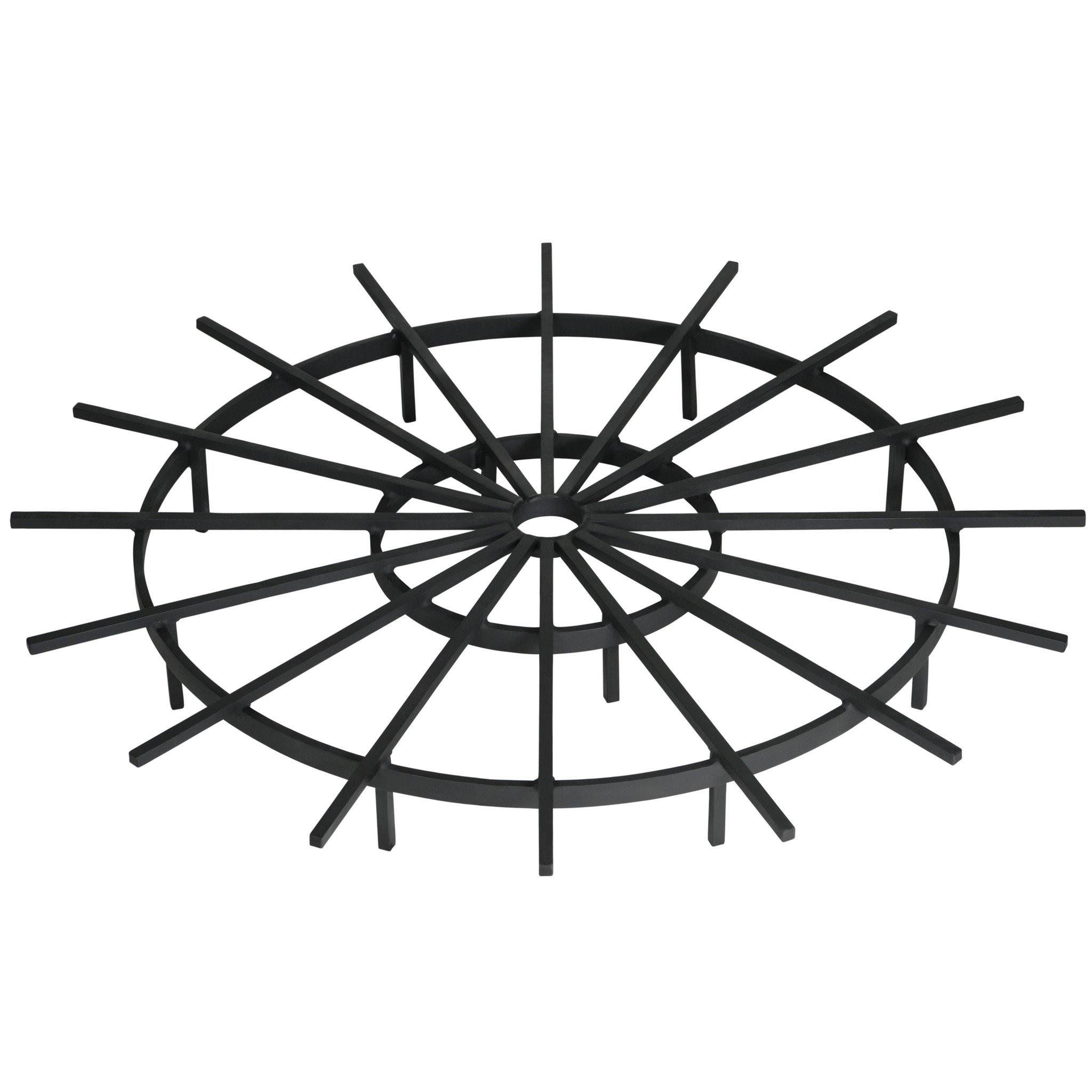Heritage Products 36 Inch Ship's Wheel Fire Pit Grate - Made in the USA