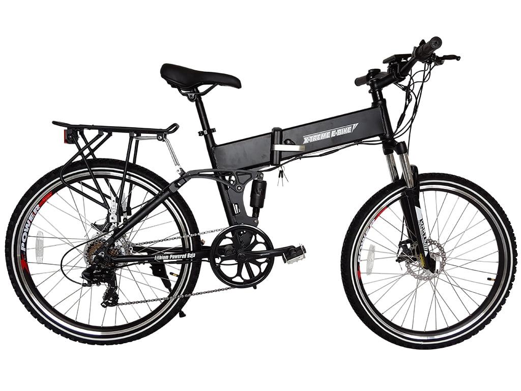 X Treme Baja 48v 500w Folding Electric Mountain Bicycle 2018 Black