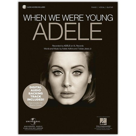 Hal Leonard Where We Were Young - Adele, Piano/Vocal with Online Backing Track