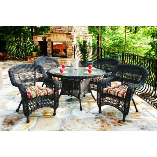 Tortuga Portside 5 Piece Patio Dining Set-Amber Miranda Terrace Chamomile