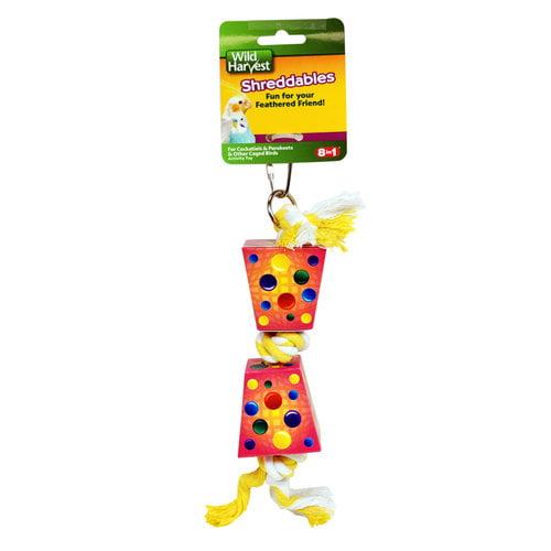 Wild Harvest Shreddable Bird Toy, Pink