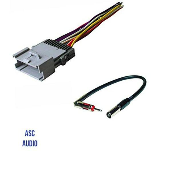 [QNCB_7524]  ASC Car Stereo Wire Harness and Antenna Adapter for GM: 03-05 Blazer/S-10,  01-02 Express,00-01 Metro,00-03 Prizm,98-04 Tracker;01-02 Savana,03-04  Sonoma,03-08 Pontiac Vibe,03-04 Toyota Matrix etc. - Walmart.com -  Walmart.com | Gm Car Stereo Wiring Harness Adapters |  | Walmart