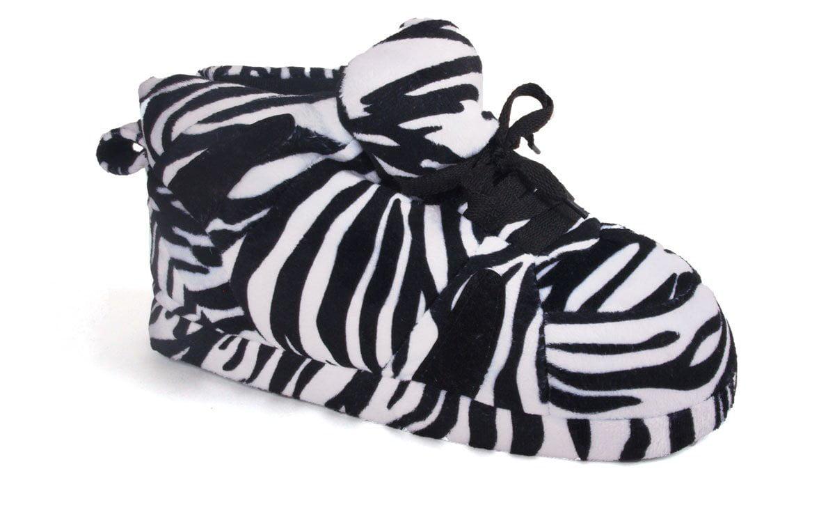 Zebra Print - Snooki Slippers - Large