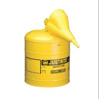JUSTRITE 7150210 Type I Safety Can, 5 gal, Ylw, 16-7/8In H