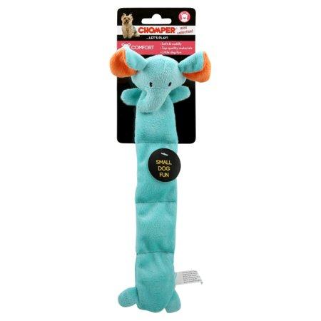 Chomper ZD1916 01 4 Squeaker Mat Elephant Pet Toy