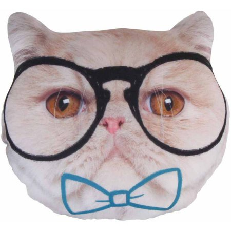 Style. Lab Photo Real Hipster Cat Pillow