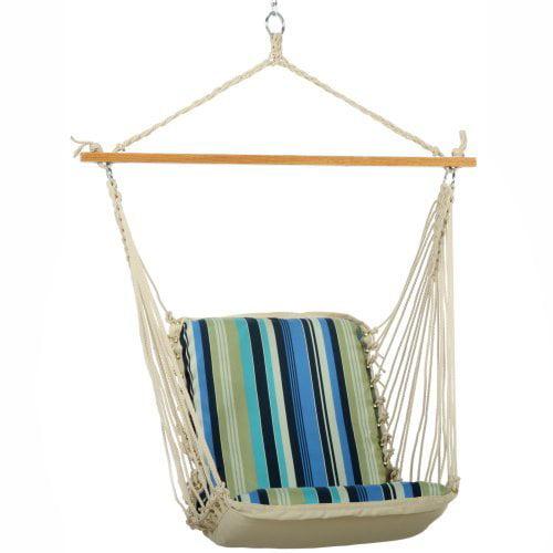 Pawleys Island Beaches Stripe Cushioned Single Hammock Swing