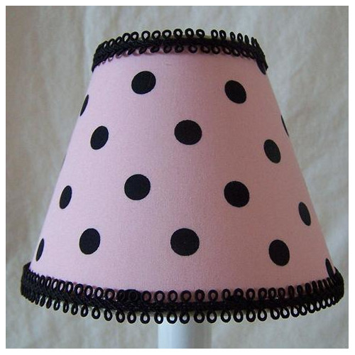 Silly Bear Lighting Black Spot Dot 11'' Fabric Empire Lamp Shade