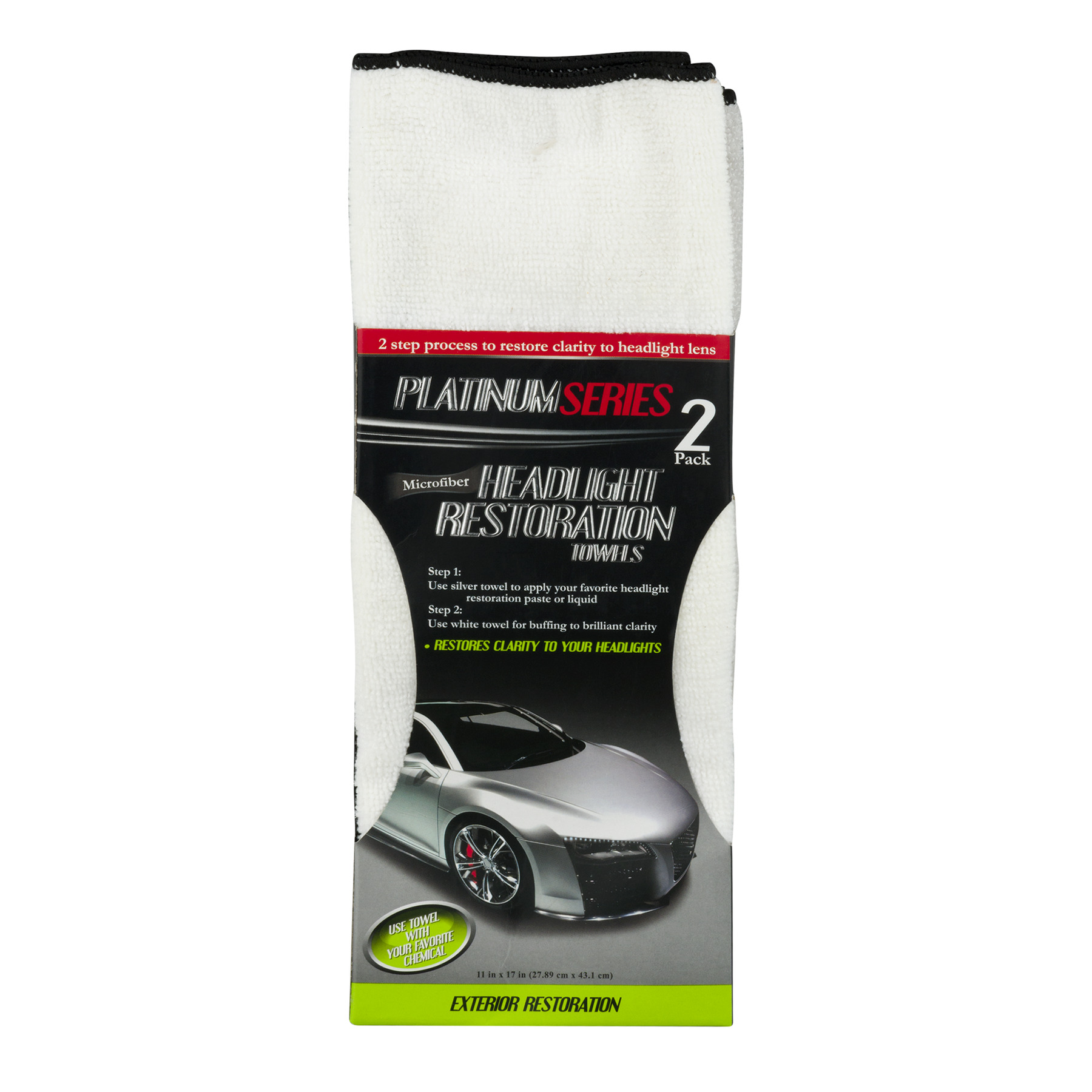 Microfiber Headlight Restoration Towels Platinum Series, 2.0 PACK