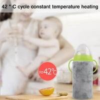 Yosoo USB Portable Travel Mug Milk Warmer Heater Bottle Heater Feeding Bottle Infant Storage Bag Milk Heater