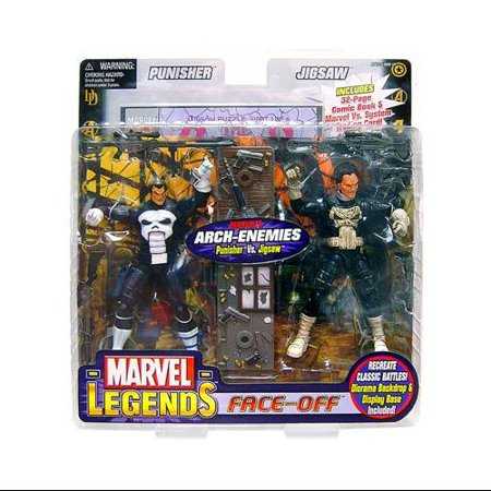 Marvel Face Off Series 2 Punisher vs. Jigsaw Action Figure 2-Pack (Jigsaw Face)
