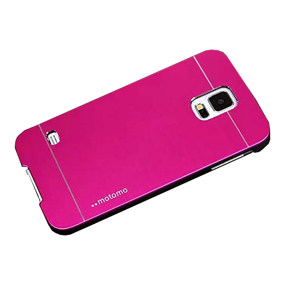 Hot Pink Hard Brushed Metal Finish Phone Case for Samsung Galaxy S5