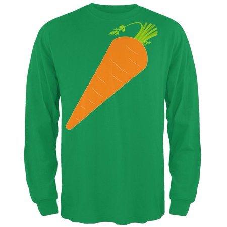 Halloween Vegetable Carrot Costume Mens Long Sleeve T Shirt