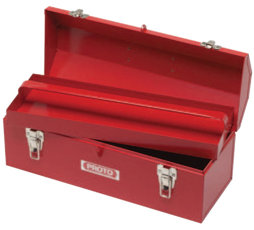 Proto Hip Roof Tool Boxes, 7 in D, Steel, Red