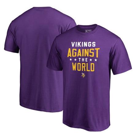 Minnesota Vikings NFL Pro Line by Fanatics Branded Against The World T-Shirt - - Minnesota Viking Football